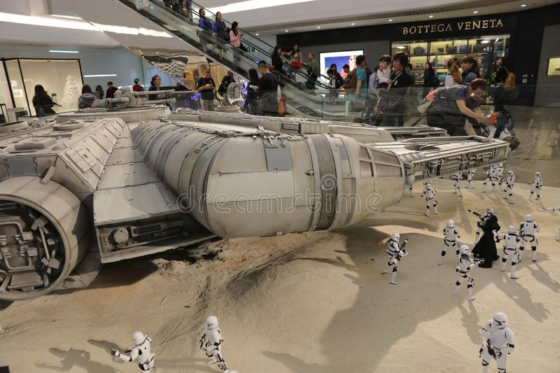 Army of miniature model Stormtroope. The army of miniature model Stormtroope stock photo
