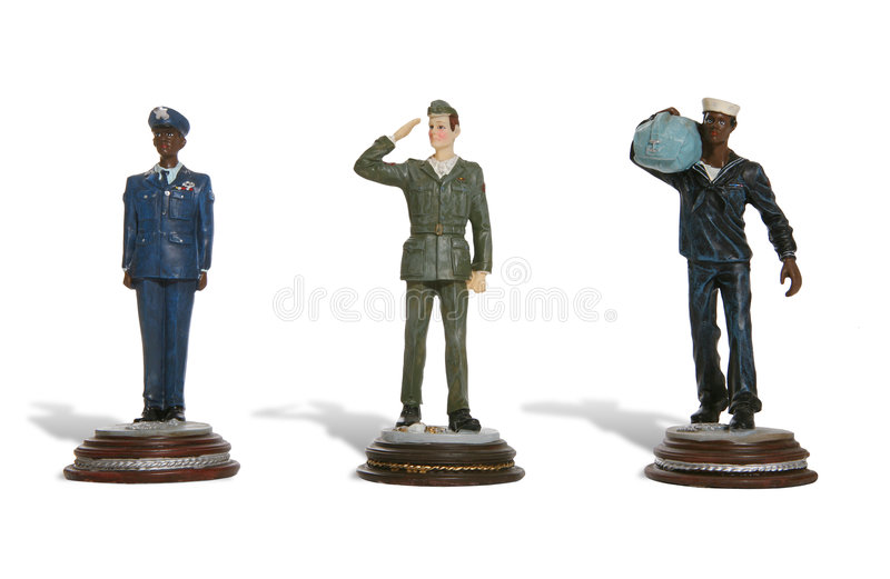 Army, Navy and Airforce stock images