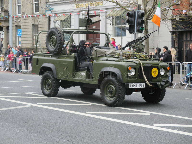 Army Open Top Jeep royalty free stock image