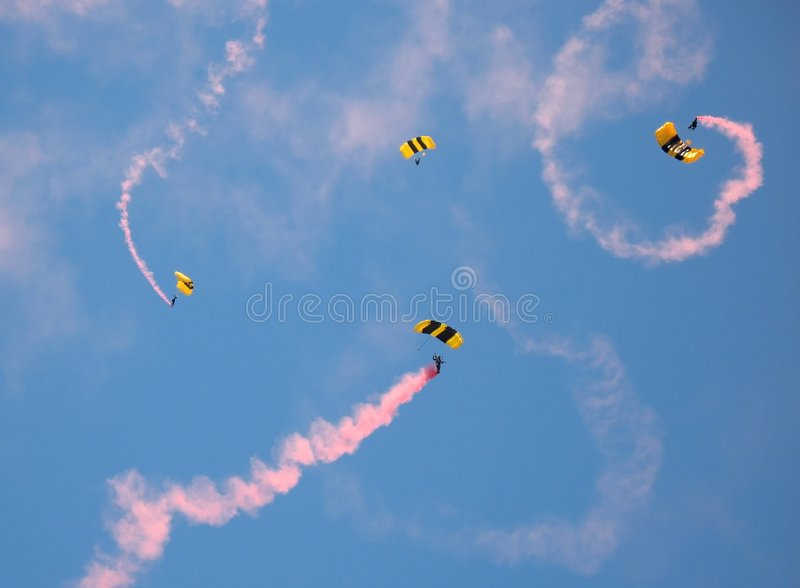Army Parachutists stock images
