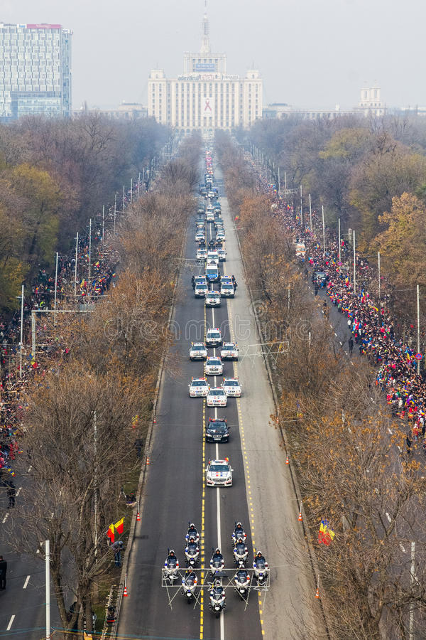 Army parade. Romanian army parade on 1 December- the national day stock photography