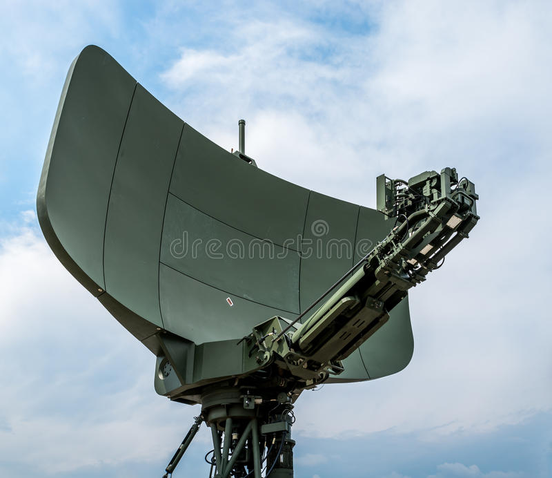 Army Radar. Modern Army Radar Antenna - Technology royalty free stock photos
