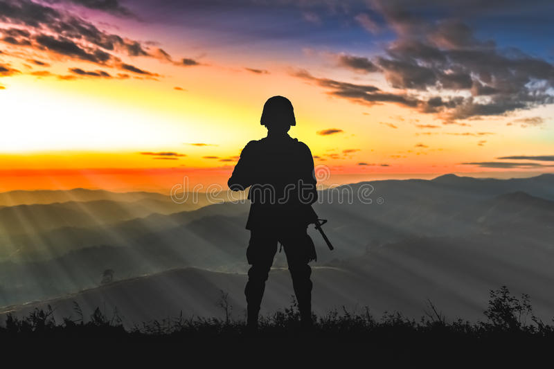 Army rangers royalty free stock image