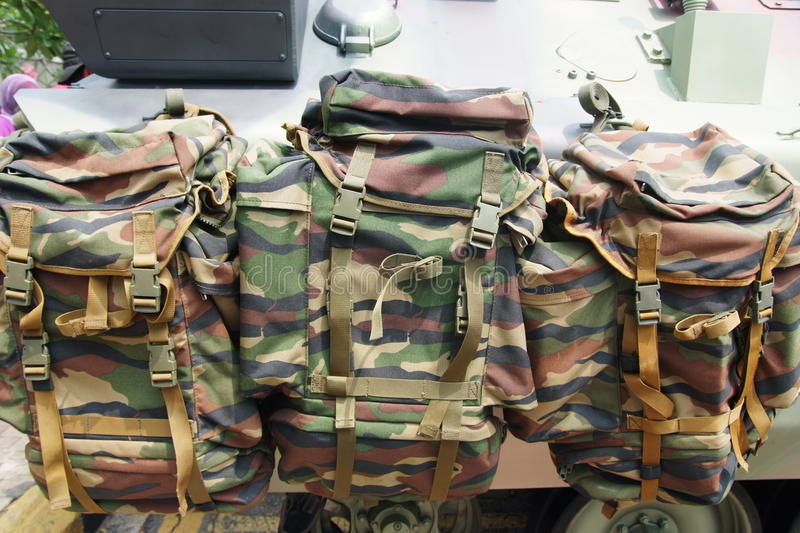 Army rucksack royalty free stock photography