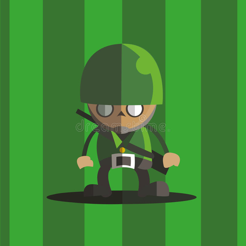 Army soldier icon great for any use. Vector EPS10. stock illustration