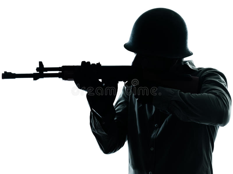 Army soldier man shooting royalty free stock images
