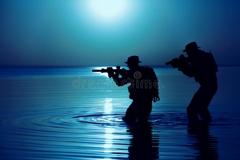 Army soldier silhouette royalty free stock photos