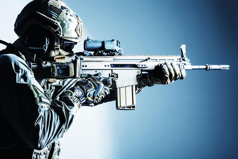 Army soldier of Special Operations Forces royalty free stock image