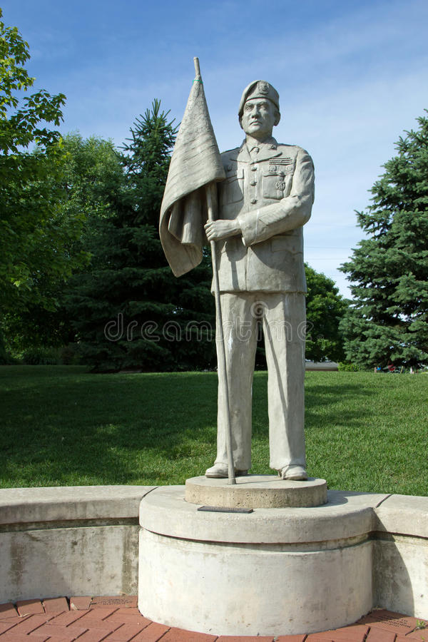 Army Statue. At Veterans memorial park in Hudsonville Michigan royalty free stock photos