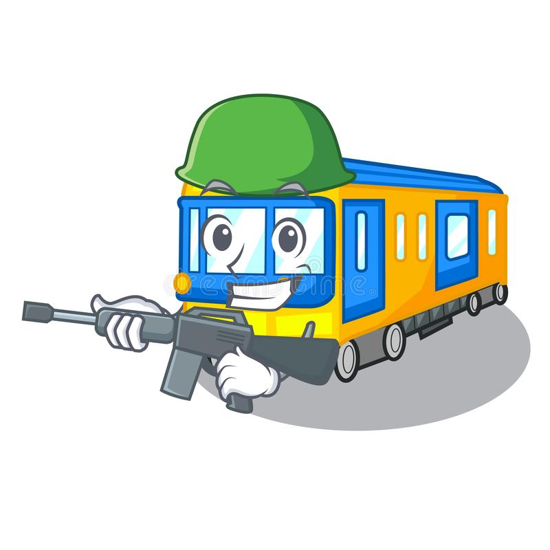 Army subway train in the shape characters. Vector illustration vector illustration