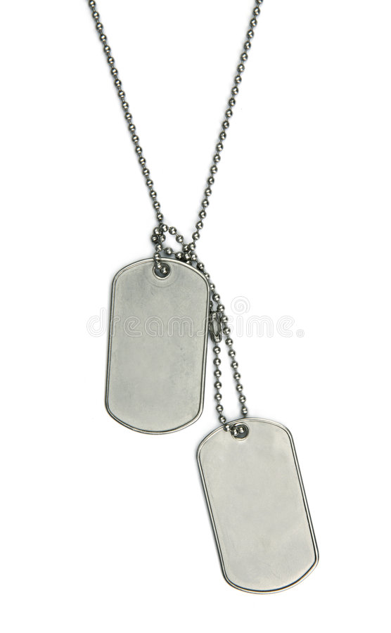 Download Army tags isolated stock image. Image of nametag, aluminium - 4799793