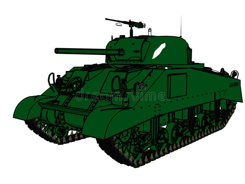 Download Army tank stock illustration. Image of military, shell - 5561101