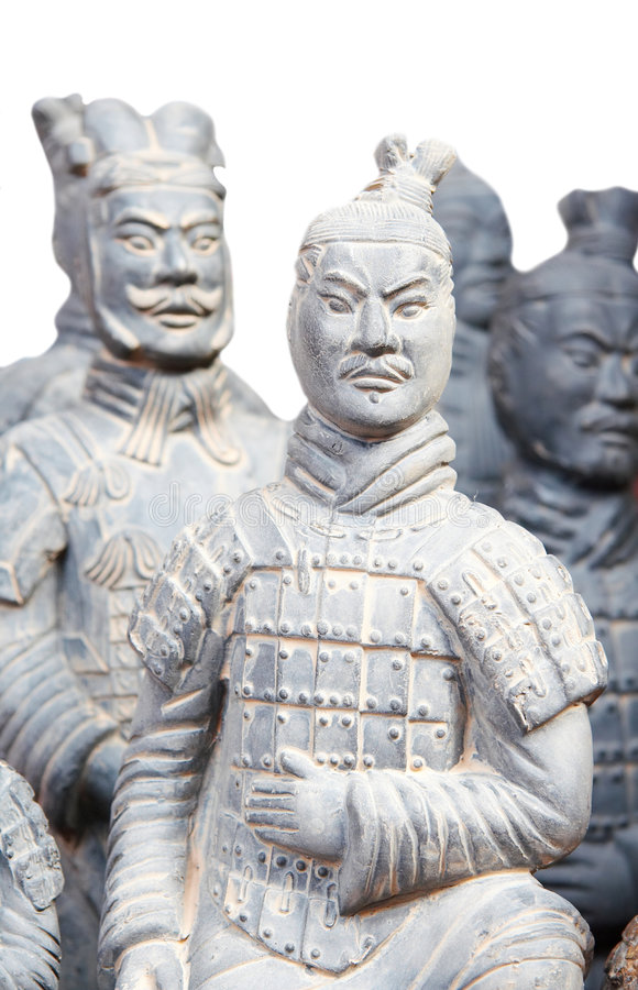 Army of terracotta warriors. One of the most famous historical sights in china royalty free stock image