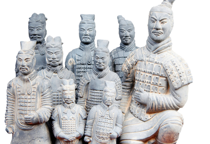 Army of terracotta warriors. One of the most famous historical sights in china stock photos