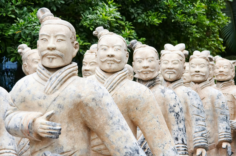 Army of terracotta warriors. One of the most famous historical sights in china royalty free stock photo