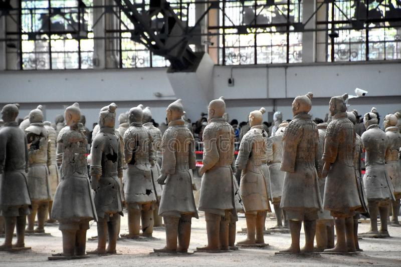 Army of Terracotta Warriors and Horses, Xian, China stock photography