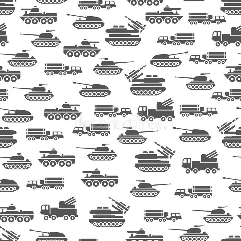 Army transport seamles pattern design - military transportation background. Army transport vector illustration royalty free illustration