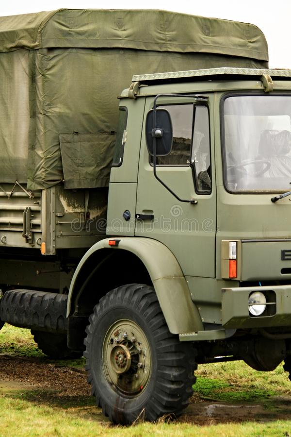 Army truck. Image of a army surplus truck on the move royalty free stock image