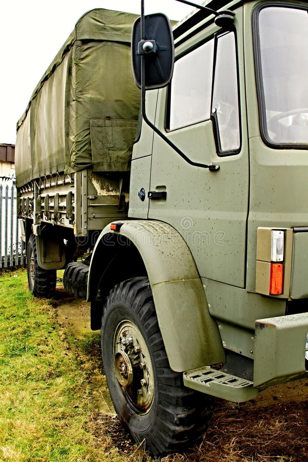 Army truck. Image of a army surplus truck parked up royalty free stock image