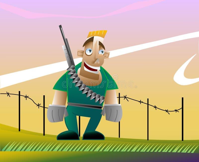 Download Armyguy stock illustration. Illustration of muscle, barbed - 10135004
