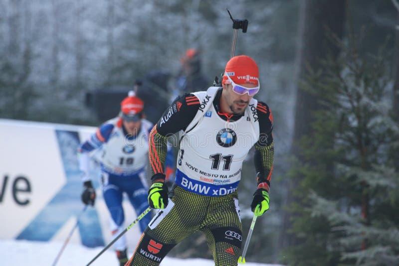 Arnd Peiffer - biathlon arkivfoto