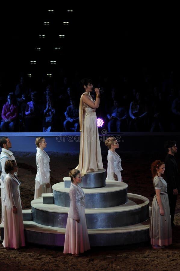 Arndis Halla Live At Apassionata - concorso ippico fotografia stock