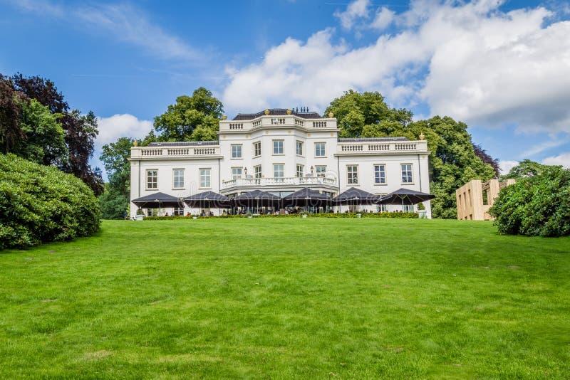 Arnhem, Netherlands: White villa in Park Sonsbeek. White vila in Park Sonsbeek in Arnhem, Netherlands royalty free stock photo