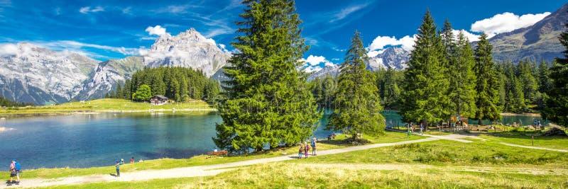 Arnisee z Szwajcarskimi Alps Arnisee jest rezerwuarem w kantonie Uri, Szwajcaria, Europa obrazy stock