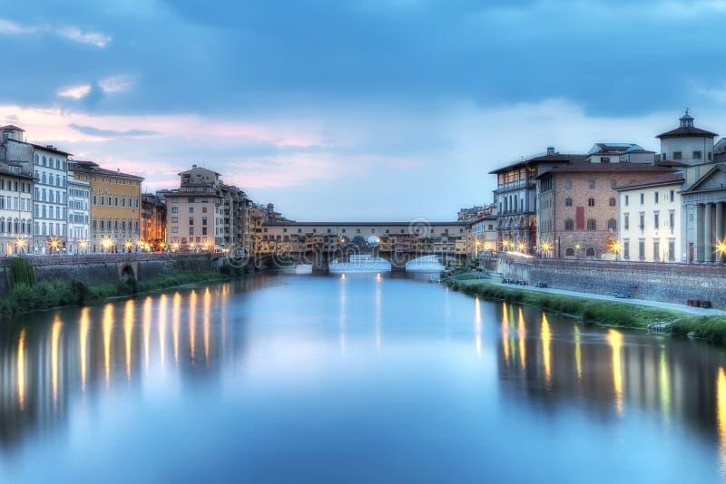 Arno River, Florence Italy. High Dynamic Range (HDR) image of Arno River, Florence, Italy stock image
