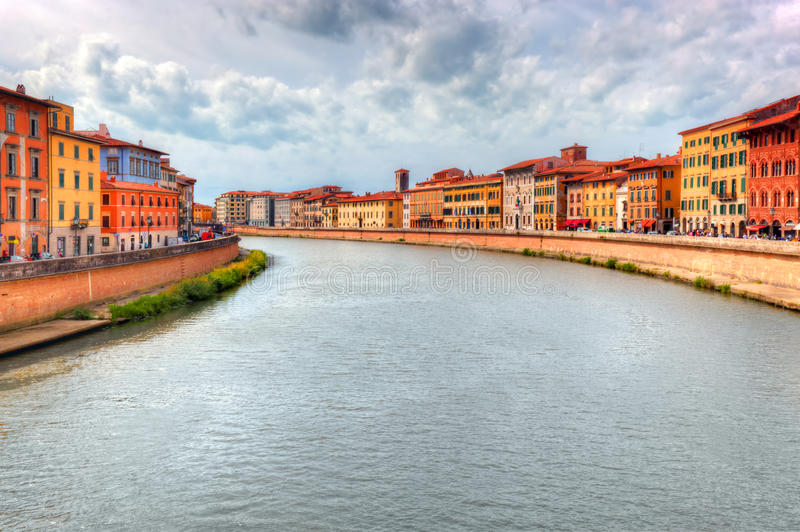 Arno river in Pisa, Tuscany, Italy. Italian architecture royalty free stock images