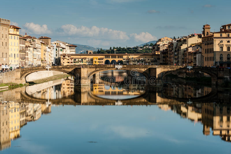 Download Arno River And Ponte Vecchio Stock Photo - Image of lanscape, river: 27349072