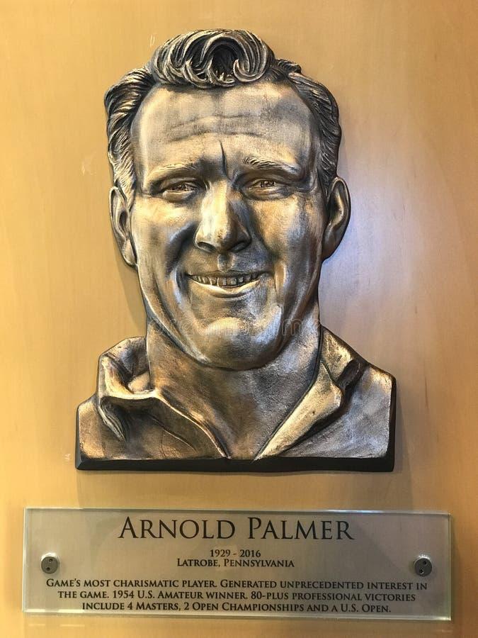 Arnold Palmer Hall av berömmelseplatta royaltyfri bild