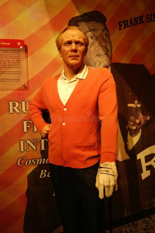 Arnold Palmer Wax Figure foto de archivo libre de regalías