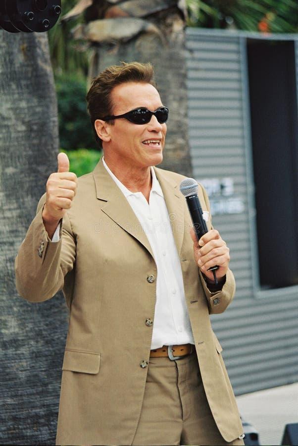 Arnold Schwarzenegger royaltyfria bilder