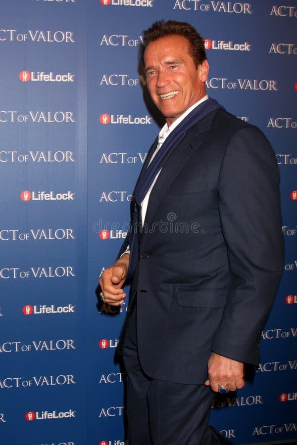 Arnold Schwarzenegger fotografia de stock