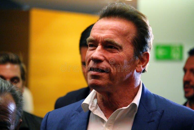 Arnold Schwarzenegger in Barcelona royalty-vrije stock afbeeldingen