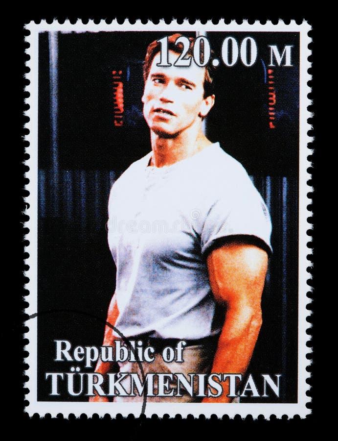 Arnold Schwarzenegger Postage Stamp royalty free stock images