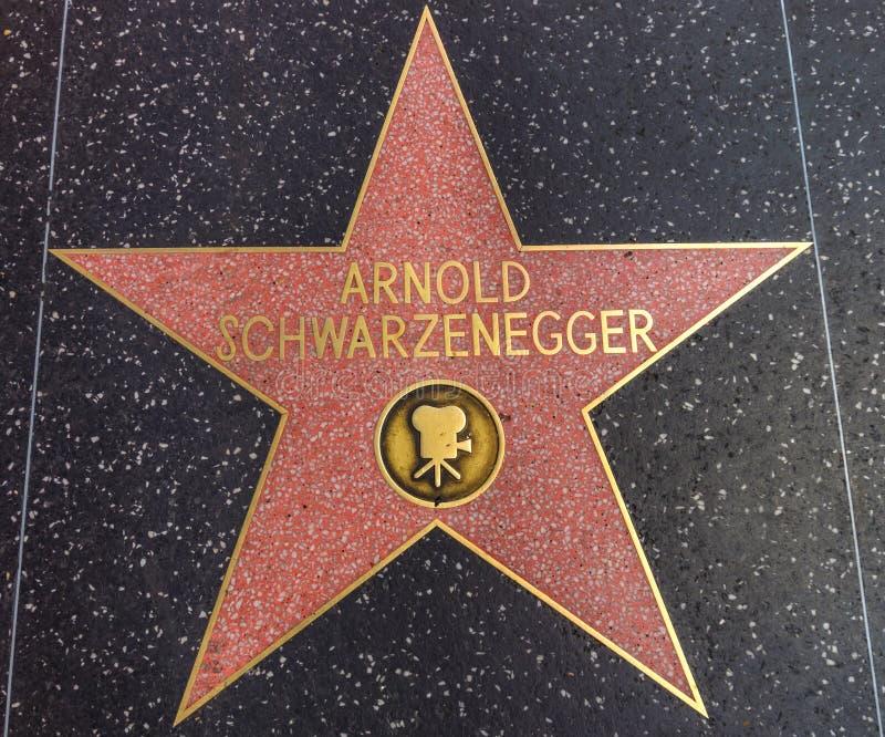 Arnold Schwarzenegger-ster op de Gang van Bekendheid stock afbeelding