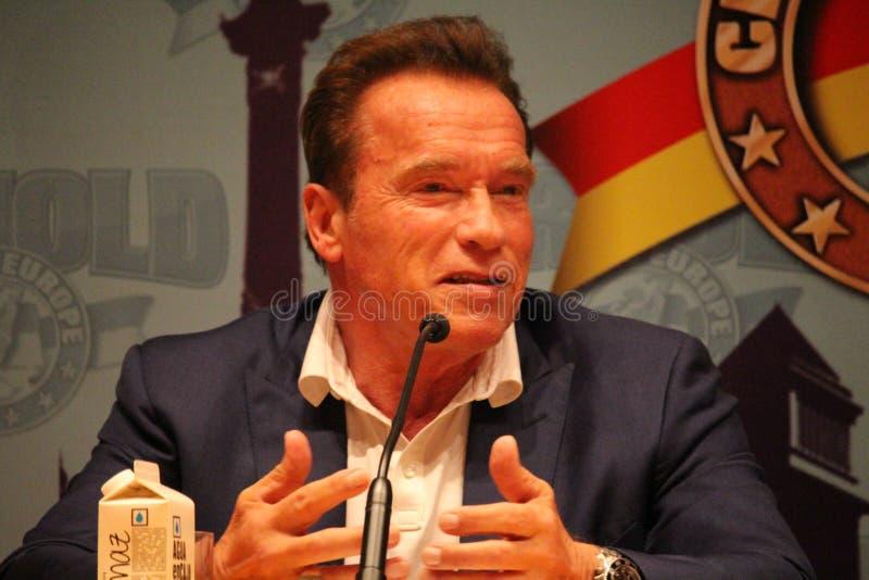 Arnold Schwarzenegger w Barcelona zdjęcie stock