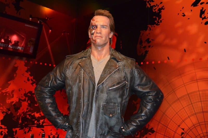 Arnold Schwarzenegger Wax Figure royaltyfri bild