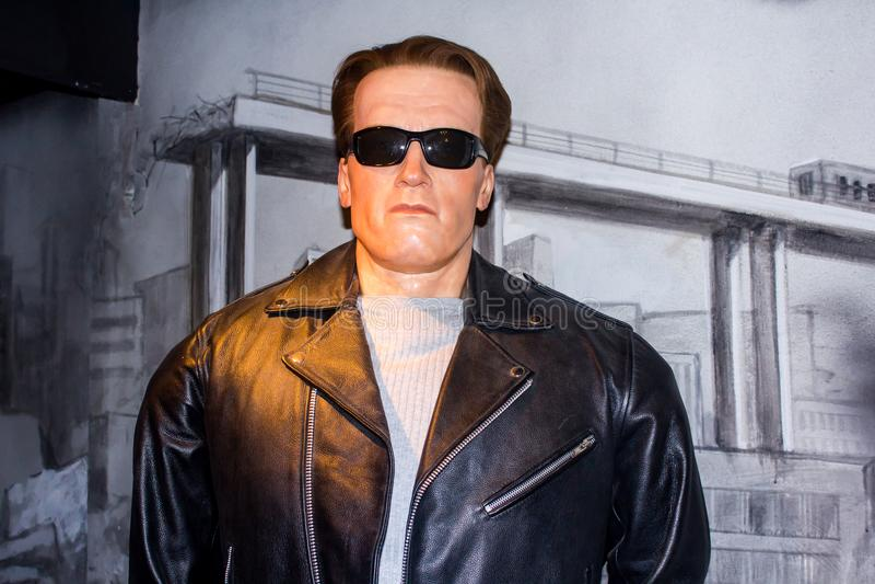 Arnold Schwarzenegger wax figure stock photo