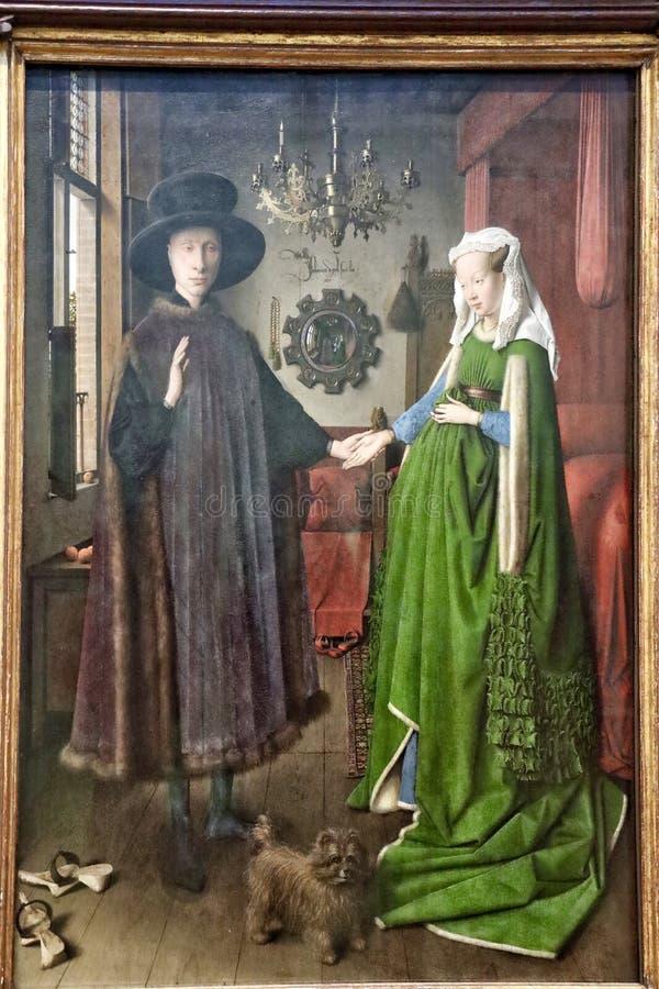 Arnolfini-Portret, 1434 royalty-vrije stock foto's