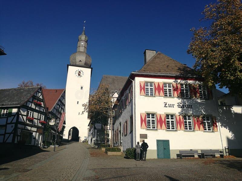Arnsberg i norr Rhen-Westphalia royaltyfria foton