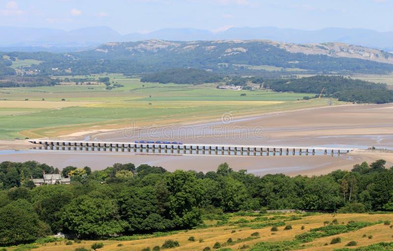 Arnside-Viadukt, See-Bezirk von Arnside Knott lizenzfreies stockbild