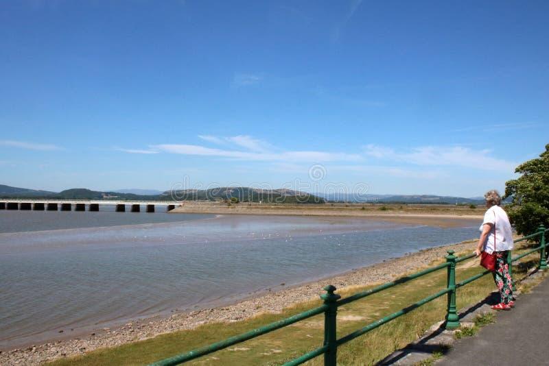 Arnside wiadukt nad Rzecznym Kent, Cumbria zdjęcie royalty free