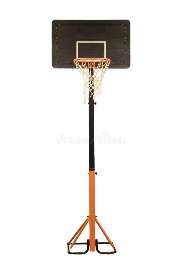 Aro de basquetebol em um fundo branco isolado imagens de stock