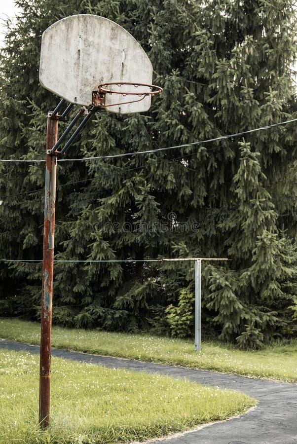 Aro de basquetebol Indiana rural imagem de stock