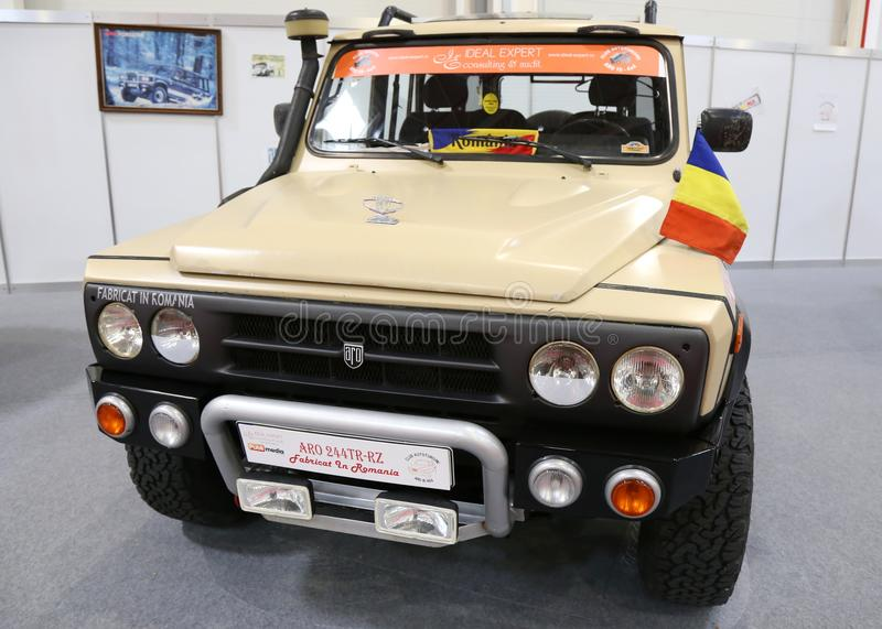 ARO 244tr-RZ bij bij SIAB, Romexpo, Boekarest, Roemenië stock afbeelding