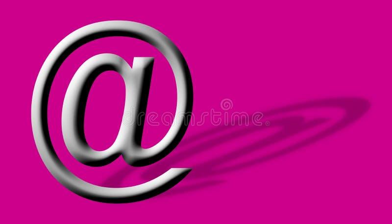 Arobase AT email symbol illustration. Arobase AT web email symbol illustration, internet sign royalty free illustration