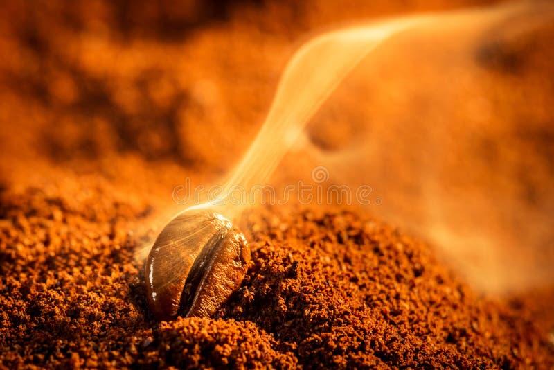 Arom av kaffe kärnar ur stekande royaltyfri foto